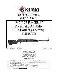 RCT525 RECRUIT Pneumatic Air Rifle 177 Caliber (4.5 ... - Crosman
