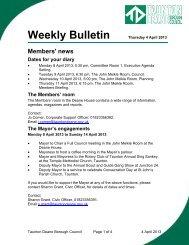 Weekly Bulletin - 4 April 2013 - Taunton Deane Borough Council