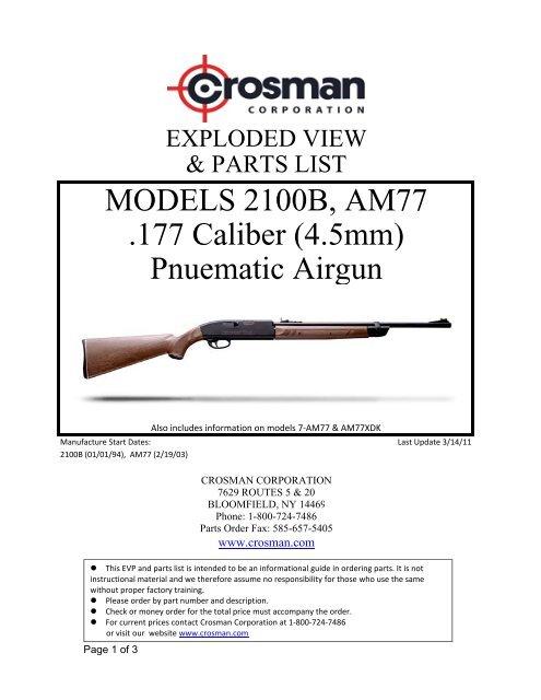 2100 & AM77 EVP & PL - Crosman