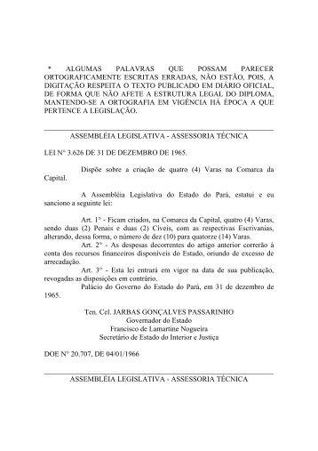 Leiord1966 - Assembléia Legislativa do Estado do Pará - Governo ...
