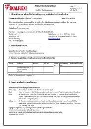 Sikkerhedsdatablad, Tætningsmasse - Skalflex