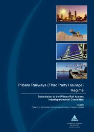 Pilbara Railways (Third Party Haulage) Regime - Department of ...