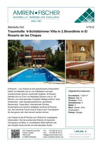 Traumhafte 6-Schlafzimmer Villa in 2.Strandlinie in El Rosario de las ...
