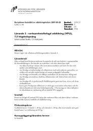 Lärande 3 - verksamhetsförlagd utbildning (VFU), 7,5 högskolepoäng