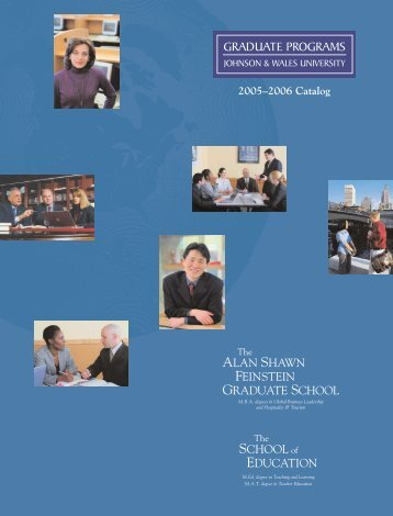 J&W Grad School Catalog | 05-06 - Johnson & Wales University