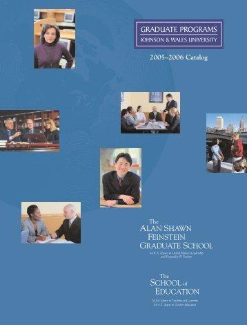 J&W Grad School Catalog | 05-06 - Johnson & Wales University