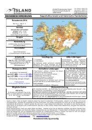Sagenhaftes Island und historische Handarbeiten