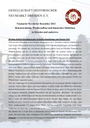 Neumarkt Newsletter Dezember 2013 - Gesellschaft Historischer ...