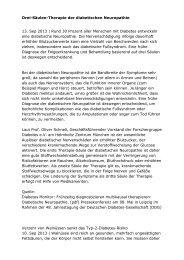 Drei-Säulen-Therapie der diabetischen Neuropathie 13. Sep 2013 ...