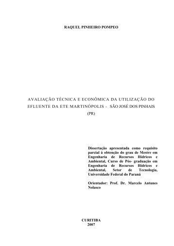 RAQUEL POMPEO WEBER - ppgerha - Universidade Federal do ...
