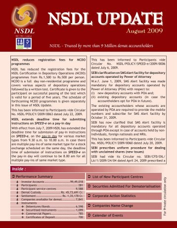 August 2009 - NSDL