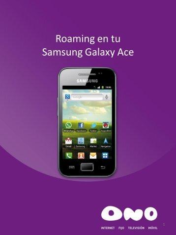 Activa el roaming en tu Samsung Galaxy Ace - Ono
