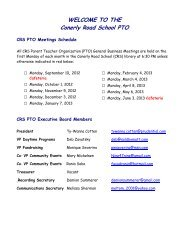 CRS PTO Meeting Schedule 2012-13 - Franklin Board of Education