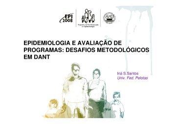 epidemiologia e avaliação de programas - Epi2008