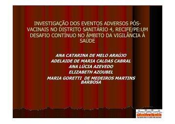 investigação dos eventos adversos pós- vacinais no ... - Epi2008