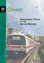 sustainable travel in the united nations - Greening the Blue