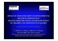 IMPACT OF FOOD INSECURITY ON DEVELOPMENTAL ... - Epi2008