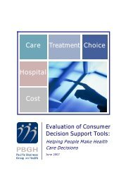 Evaluation of Consumer Decision Support Tools - Pacific Business ...