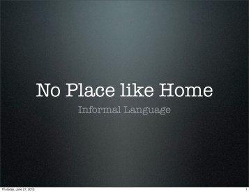 Informal Language - The English Cafe