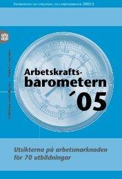 Utsikterna på arbetsmarknaden för 70 utbildningar (pdf) - Statistiska ...