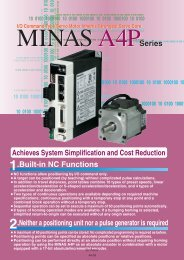 MINAS A4P servo drives - Panasonic Electric Works Europe AG