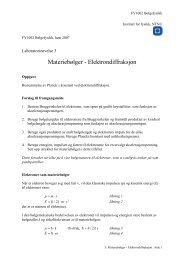 Laboratorieøvelse in MNFFY104 - Kvantefysikk og Statistisk ... - NTNU