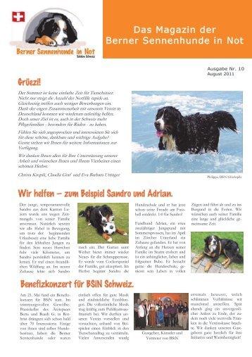 Das Magazin der Berner Sennenhunde in Not