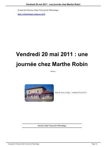 Vendredi 20 mai 2011 - Paroisse Saint Vincent de l'Hermitage