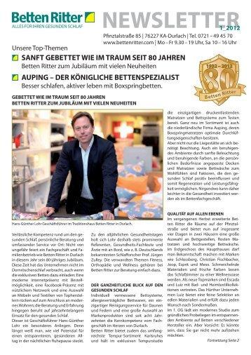 NEWSLETTER1_2012 - Betten Ritter