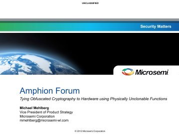 Security Matters - about the amphion forum