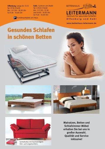 Gesundes Schlafen in schönen Betten - Bettenhaus Leitermann