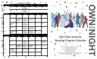 2012 Teen Summer Reading Program Calendar - East Baton Rouge ...