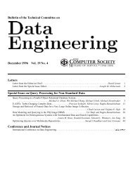 Bulletin of the Technical Committee on - IEEE Computer Society