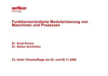Funktionsorientierte Modularisierung von Maschinen und Prozessen