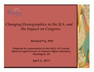 Changing Demographics in the U.S. and the Impact on Congress