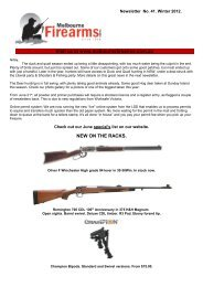 coming in 2012! - Melbourne Firearms Centre