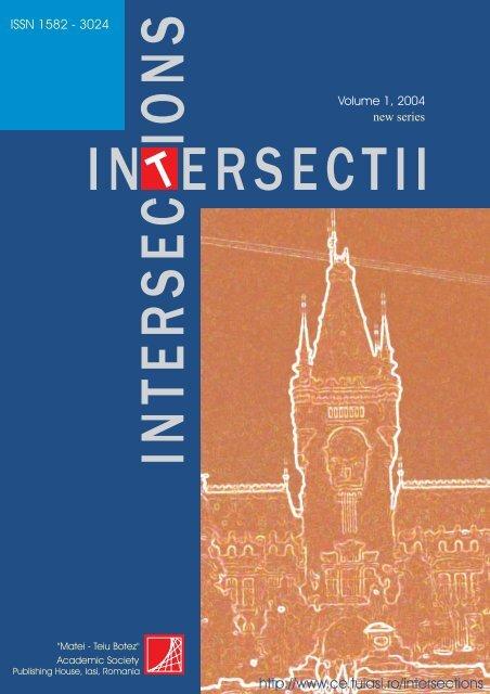 "Vol. 1(NS) (2004) - ""Intersections"" International Journal"
