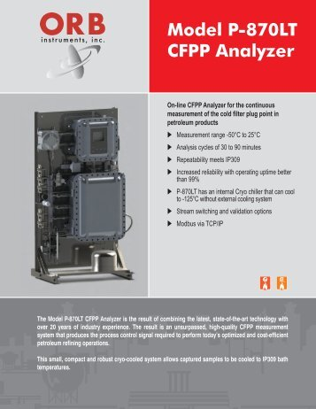 P-870LT CFPP Analyzer Brochure - OrbInstruments.com