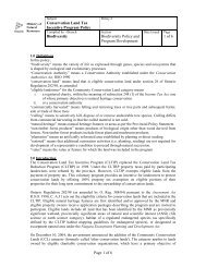 Conservation Land Tax Incentive Program Policy - Ministry of ...