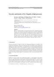 Viscosity and density of Fe–S liquids at high ... - ResearchGate
