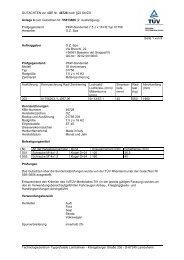 GUTACHTEN zur ABE Nr. 46728 nach §22 StVZO Anlage 8 zum ...