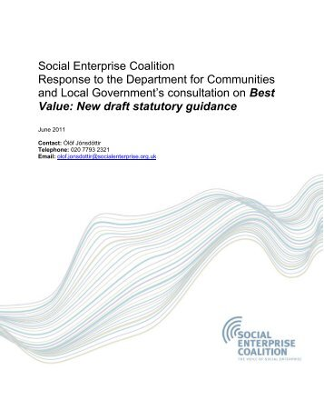 Department for Communities and Local Government consultation on ...