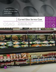 Curved Glass Service Case - Hill Phoenix