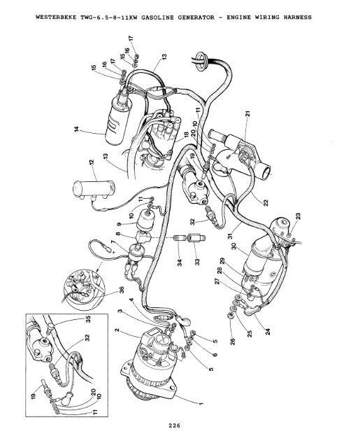 Westerbeke Generator Wire Harness Engine. Wartsila Generators, Eagle on