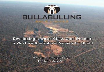 Bullabulling Gold One2One Presentation - Proactive Investors