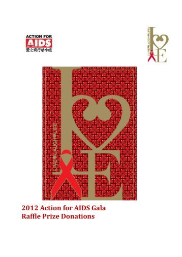 2012 afa gala raffle prize donation action for aids