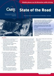 Mobile phone use and distraction while driving fact sheet