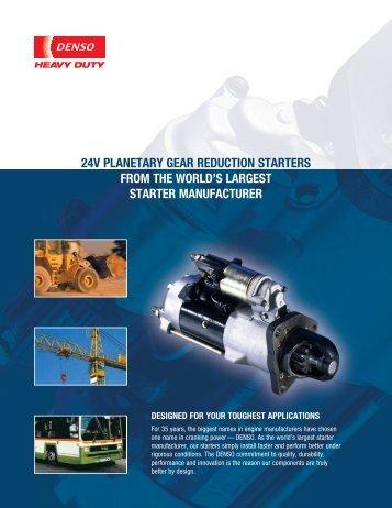 24V Planetary Gear Reduction Starter Bulletin (pdf) - MurCal, Inc.
