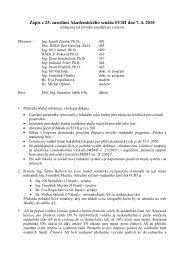 Zápis z 25. zasedání Akademického senátu FCHI dne 7. 4. 2010