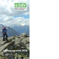 Jahresprogramm 2014 - DAV Reutlingen